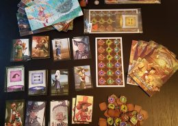 Gesamtes Spielmaterial des Brettspiels Pepper & Carrot the Potion Contest vom Verlag Boardgamecircus